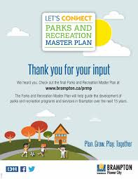 city of brampton parks and recreation master plan parks