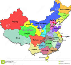 China On A Map by