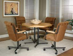 emejing dining room chairs with rollers ideas home design ideas