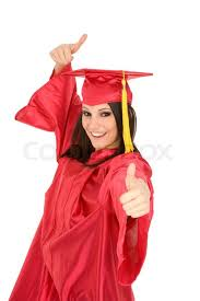 white graduation gowns beautiful caucasian woman wearing a graduation gown giving the