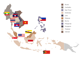 Southeast Asia Political Map by Geo Map Asia
