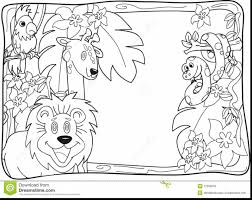 extraordinary jungle invitation lineart stock images you can with