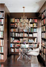 cool small home library ideas home library design with yellow