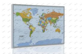 Pin World Map by Political World Map On Cork Pinboard