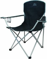 Collapsible Camping Chair Highlander Folding Camp Chair Black Amazon Co Uk Sports U0026 Outdoors