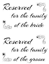 printable reserved table signs free printable reserved seating signs for your wedding ceremony