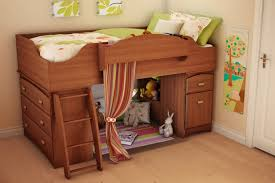 Loft Beds For Teenagers Bedroom Charming Wooden Loft Beds For Teens With Small Room Below