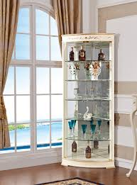 Showcase Glass Cabinet Decoration Display Case Corner Tall Glass China Cabinet Wide
