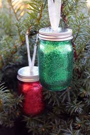 diy glitter mini jar ornament the country chic cottage