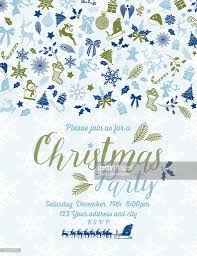 retro inspired pastel christmas party invitation template vector