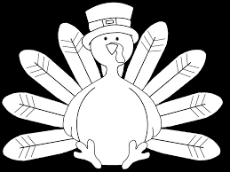 turkey black and white cooked turkey clipart black and white
