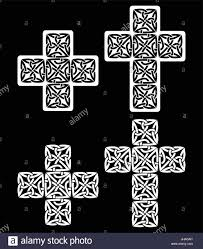 celtic cross set of traditional designs in black celtic crosses