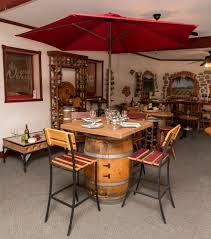 Wine Barrel Patio Table Wine Barrel Patio Table Table Designs