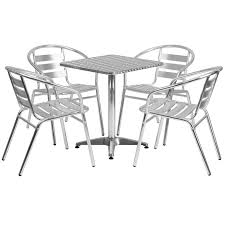 stainless steel table and chairs stainless outdoor table set 23 5 square restaurant table sets