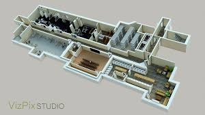 Floor Plan Renderings Vizpix Studio 3d Architectural Visualization And Animation