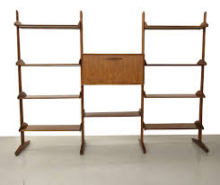 room dividers shelves solid walnut and brass room divider shelving wall unit at 1stdibs