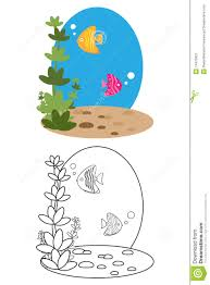 coloring page book for kids fish stock image image 14473921