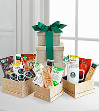 coffee and tea gift baskets starbucks coffee tea gift baskets ftd