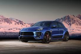 Porsche Macan Dark Blue - tuning porsche macan turbo ursa topcar
