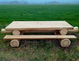 round picnic tables for sale western red cedar log picnic table