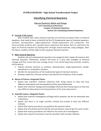 Categorize And Classify Worksheets Classifying Chemical Reactions Worksheet