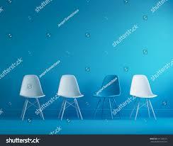 modern blue white chairs standing interior stock photo 511126573