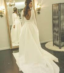 simple open back wedding dresses sleeves open back simple free custom handmade wedding dress