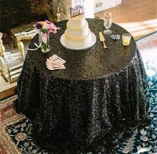 sale black sequin tablecloth table runner or table overlay