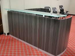 Reception Station Desk Cherry Reception Station With Transaction Top Atlanta