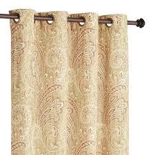 seasons paisley tan grommet curtain pier 1 imports
