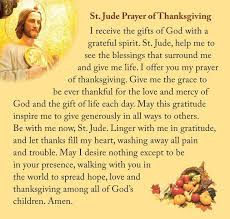 cathedral of st the baptist thanksgiving prayer to st jude