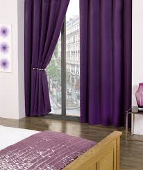 Purple Thermal Blackout Curtains by Plain Luxury Thermal Supersoft Blackout Curtains Amethyst Purple