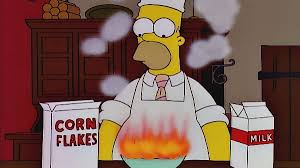 Corn Flakes Meme - homer cereal fire blank template imgflip