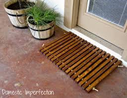 diy doormat using wood rope