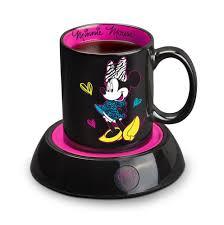 amazon disney minnie mouse mug warmer black pink kitchen