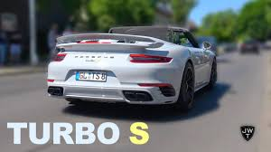 porsche 911 turbo sound modified 2017 porsche 911 turbo s convertible turbo exhaust