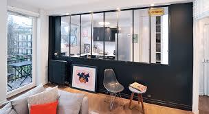 cloison vitree cuisine cloison vitree salle de bain 7 cuisine ouverte une cloison