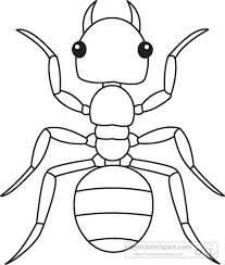 ant clipart outline pencil and in color ant clipart outline