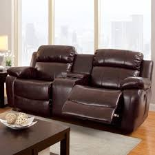 eland brown glider recliner loveseat by inspire q classic free