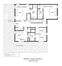 1 lot back vacation rental forever sunshine wh218 forever sunshine floor plan second level jpg