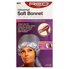 portable hair dryer walmart red by kiss universal soft bonnet hair dryer attachment walmart com