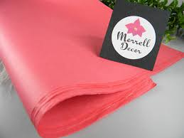tissue paper gift wrap coral pink tissue paper 48 bulk tissue sheets 20 x