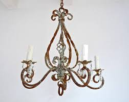 Antique Iron Chandeliers Vintage Chandelier Etsy