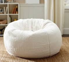 home design faux fur bean bag chair pottery barn u2014 bags and