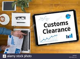 Office Desk Clearance Customs Clearance Businessman Working At Office Desk And Using
