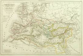 Roman Map Roman Empire Map 1845