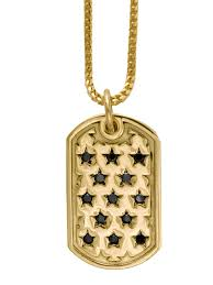 baby dog tags king baby seeing dog tag in 18k gold and black diamonds