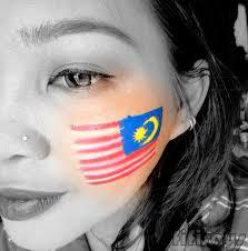 Flag Face Fifi Says Looks Malaysian Flag Jalur Gemilang
