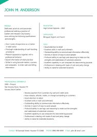 cashier resume template cashier resume template free