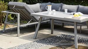 canapé d angle de jardin salon jardin table fauteuil canapé d angle